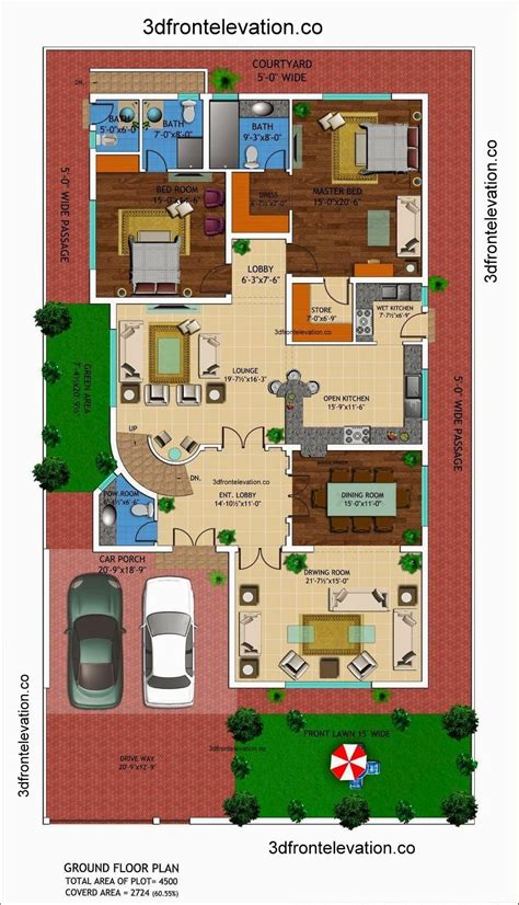house layout plans 1 kanal house drawing floor plans layout with basement