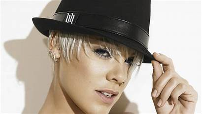 Singer Pink Wallpapers Hair Tattoo Hat Glasses