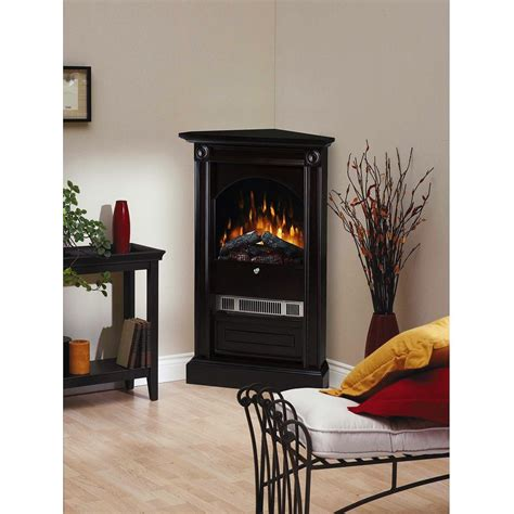 electric corner fireplace dimplex dcf7850b 30 inch chelsea corner electric fireplace