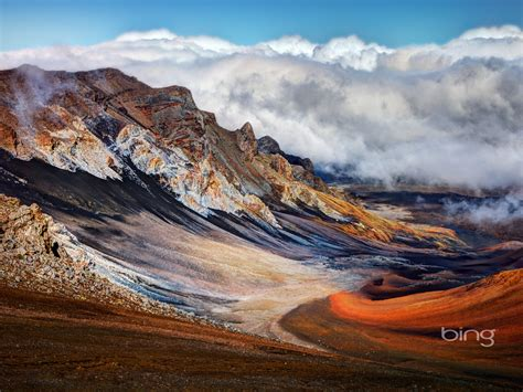 volcanic landscape august  bing wallpaper preview