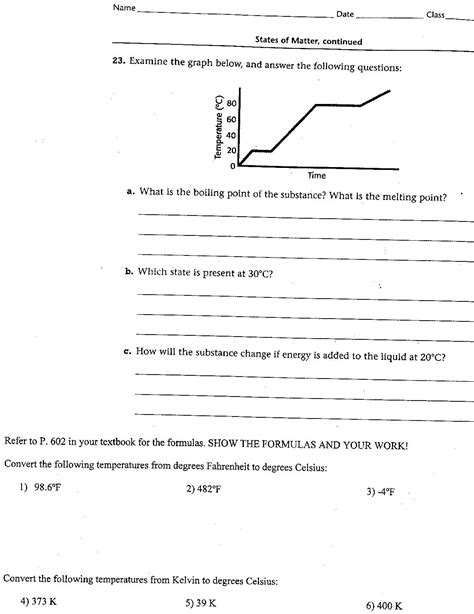Heating Curve Worksheet  Car Interior Design