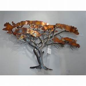 Decoration Murale Acier : arqitecture metal tableau sculpture arbre cuivr ~ Teatrodelosmanantiales.com Idées de Décoration