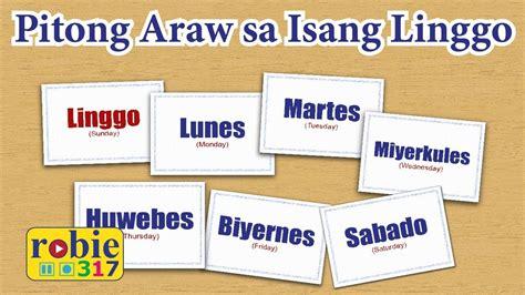 pitong araw sa isang linggo animated days   week song