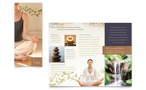 Free Spa Brochure Templates by Naturopathic Medicine Brochure Template Word Publisher