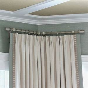 Barre Rideau Fixation Plafond : tringle rideau tringles pinterest tringle rideau ~ Premium-room.com Idées de Décoration