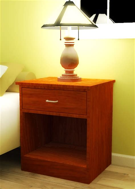 Nightstand Plans Free by Plywood Open Nightstand