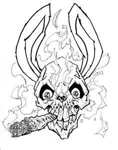 Tattoo Weed Girl Smoking Drawing