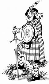 Kilt Clipart Highlander Tartan Highland Drawing Highlanders Games Scottish Coloring Scotland Cabin Clan Macleod Angus Kilts Wear Ayrshire Sketch Template sketch template