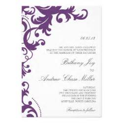 plum wedding invitations plum purple damask wedding invitation 5 quot x 7 quot invitation card zazzle