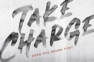Download free svg fonts for commercial and personal use. Fierce font SVG brush script font   Brush font, Lettering ...