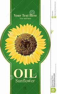Design Labels Sunflower Oil Stock Images - Image: 20512454
