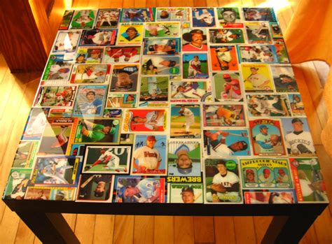 2009 Upper Deck Baseball by Baseball Card Collage Table Ikea Hackers Ikea Hackers