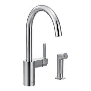 wall mount single handle kitchen faucet moen single handle wall mount kitchen faucet with 9 in spout in chrome 8713 the home depot