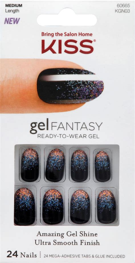 kiss gel fantasy nails painted veil  ct