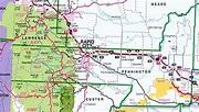 Pennington County Map - South Dakota - South Dakota Hotels ...