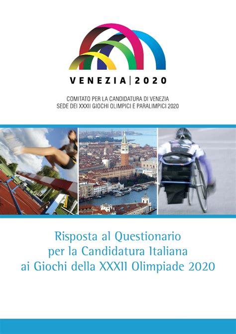 candia si e social venezia si candida per le olimpiadi 2020