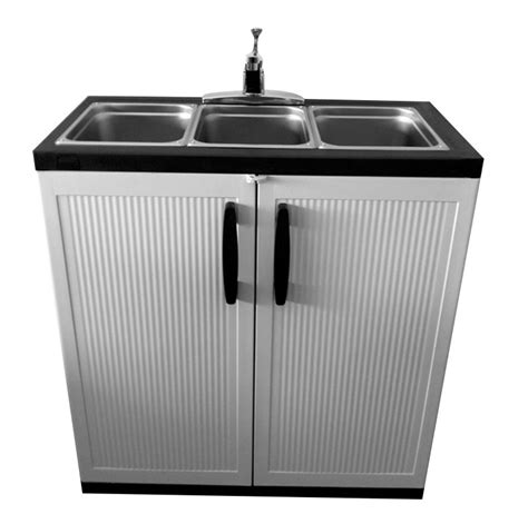 portable water sink home depot portable sink depot 3 compartment portable sink
