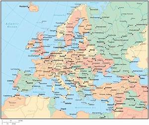 cool Map of europe countries and cities