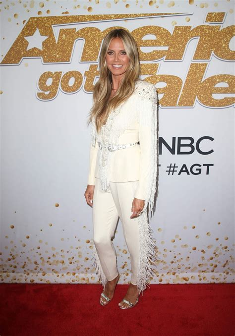 Heidi Klum America Got Talent Season Live Show Red