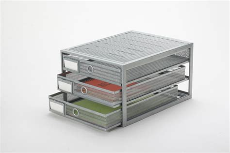 wire mesh desk drawer organizer high quality silver metal mesh 3tier stationery desk