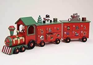Weihnachtskalender Zum Befüllen : adventskalender zum bef llen aus holz weihnachtszug mit 24 schubladen weihnachtskalender f r ~ A.2002-acura-tl-radio.info Haus und Dekorationen