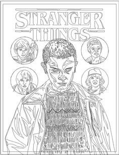 Free Printable Stranger Things coloring pages | Stranger