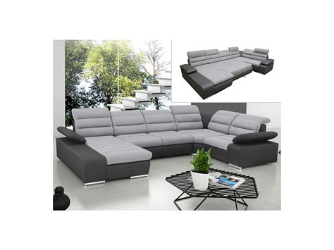 canape vente canapé d 39 angle panoramique convertible gris ou bleu boileau