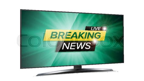 tv green screen template white breaking news live background vector stock vector