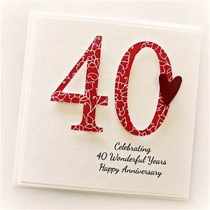 40th anniversary custom card personalised wedding husband With what is 40th wedding anniversary