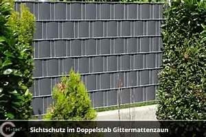 Sichtschutzstreifen Zum Einflechten : zaun sichtschutz im doppelstab gittermattenzaun aus ~ Michelbontemps.com Haus und Dekorationen