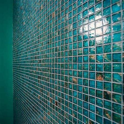 glass tile showcase blue green euro iridescent glass