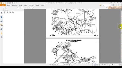 takeuchi track loader p tl  xa parts manual youtube