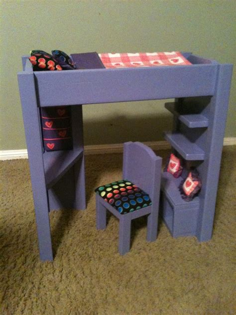 ana white loft bed  american girl   doll diy
