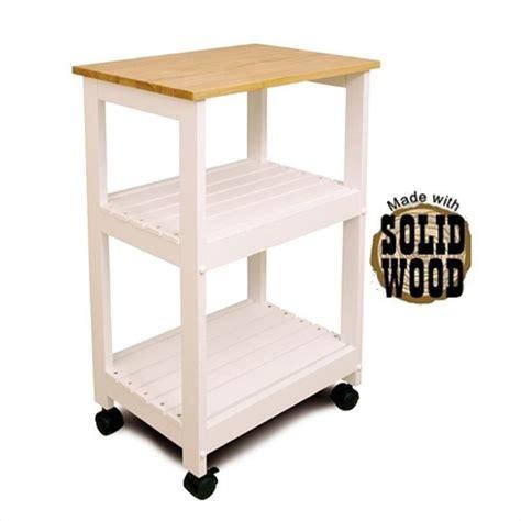 kitchen utility cart catskill craftsmen microwave utility butcher block white