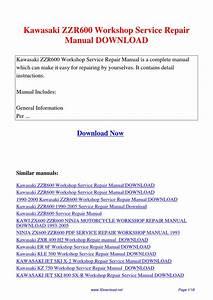 Kawasaki Zzr600 Workshop Service Repair Manual By Gipusi
