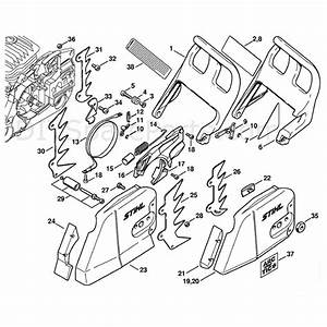 Stihl Ms 460 Chainsaw  Ms460 R  Parts Diagram  Chain Brake