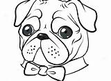 Pug Coloring Printable Pugs Dog Colouring Funny Puppy Dogs Simple Drawing Printables Drawings Tie Epic Getcolorings Cartoon Editor Bowtie Cakes sketch template