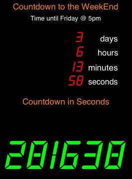 week countdown tel af naar je weekend apps iphonednl