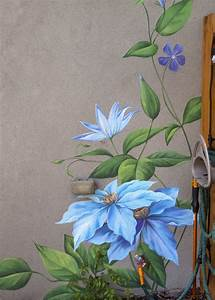 Flower, Wall, Art, Mural, Painted, On, The, Walls, Of, A, Private