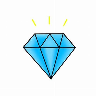 Diamond Draw Drawing Easy Colored