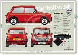Italian Job LE 1992 Flame Red Classic Car Portrait Print