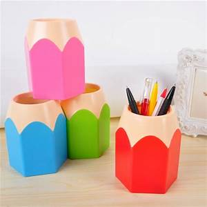 Pot à Crayon Design : buy 2015 popular creative pen vase pencil pot makeup brush holder stationery ~ Teatrodelosmanantiales.com Idées de Décoration