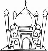 Mosque Masjid Coloring Pages Mewarnai Gambar Clipart Islamic Cliparts Clip Template Colouring Muslim Getdrawings Studies Outline Find Getcolorings Clipartbest Computer sketch template