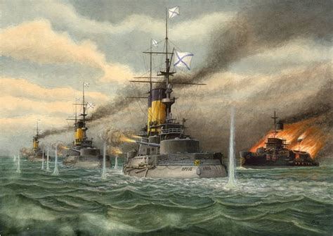 russian battleship knyaz suvorov   battle  tsushima