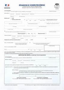Document Cession Vehicule : d claration de cession certificat de cession cerfa 15776 ~ Gottalentnigeria.com Avis de Voitures