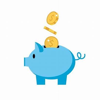 Piggy Bank Pig Vector Coins Illustration Finance