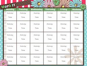 printable workout calendar activity shelter With exercise calendar template free