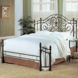 bed iron size bed frame bedroom scroll metal design