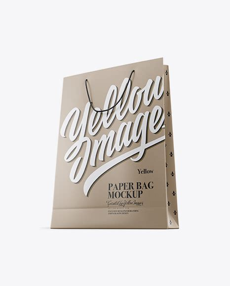 We add new mockups every day. Kraft Paper Bag Mockup - Front View - Glossy Paper Bag ...