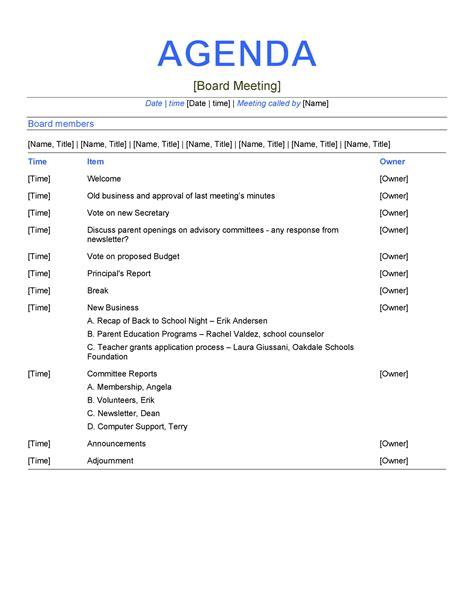 effective meeting agenda templates template lab